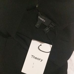 Theory Tops - Theory | black ribbed knit crossover top NWT sz sm